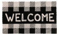 Checkered Welcome Coir Doormat (Case Pack - 4)