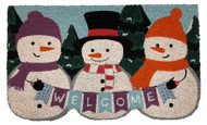 Winter Snowmen Coir Doormat (Case Pack - 4)