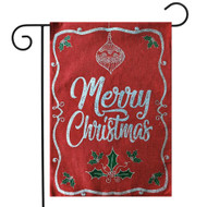 Merry Christmas Burlap Holiday Garden Flag