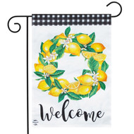 Lemon Wreath Garden Flag