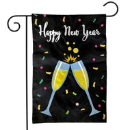 Happy New Year Applique Garden Flag