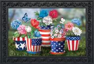 America In Bloom Doormat