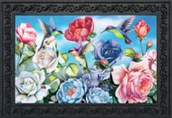 Hummingbird and Roses Doormat