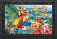 5 O'Clock Paradise Doormat