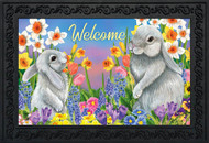 Spring Friends Bunnies Doormat