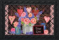 Flowers and Hearts Doormat