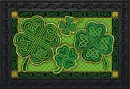 Celtic Shamrocks Doormat
