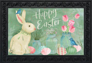 Easter Bunny and Tulips Doormat