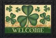 Shamrock Welcome Doormat