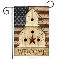 Americana Welcome Garden Flag