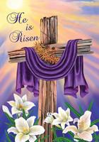 Easter Cross Garden Flag