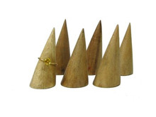 "Elite Natural 2"" Ring Cone Display"