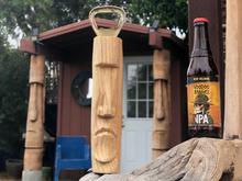 Moai Tiki Bottle Opener plus free bonus Beach sign!