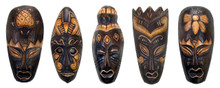 "8"" African Style Tribal Mask -Set of 5 (B)"
