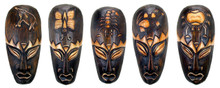 "8"" African Style Tribal Mask -Set of 5 (C)"