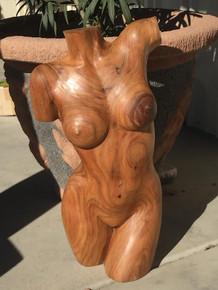 "28"" hand carved womens torso"