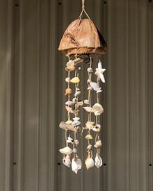 Coconut mobile with seashells