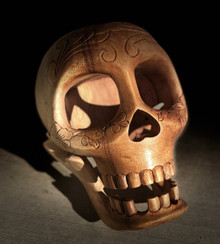 Coco style Sugar Skull- hand carved in Bali