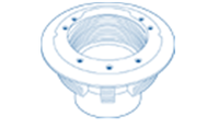 Paramount SDX Bulkhead for Vinyl/Fiberglass Pools