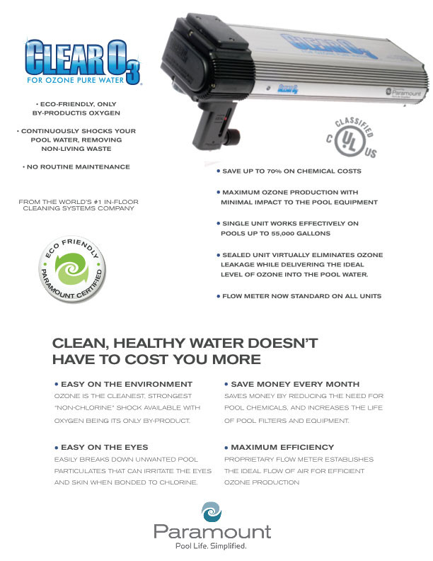 Paramount Clear O3 Ozone System Brochure