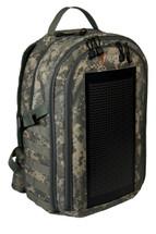 The Bugout Solar Backpack, digital ACU camo