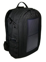The Trekker Solar Backpack, MOLLE, Black