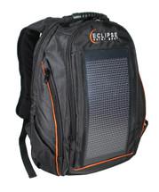 The Eclipse Solar Backpack, Black/Orange