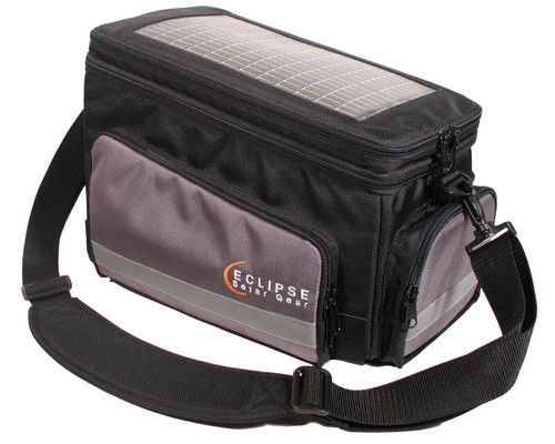 The Nomad Solar Bike Bag, black