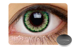 Color Contact Lenses-Dajavu Misty Green