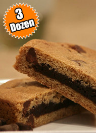 Chocolate Chip Cookie STUFT with Fudge Brownie – Three (3) Dozen