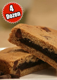 Chocolate Chip Cookie STUFT with Fudge Brownie – Four (4) Dozen
