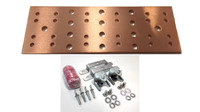 "BBTMGB412K1 - 12"" Main Ground Bar Assembly and Hardware Kit (no lugs)"