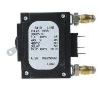 IMLK1-1RS5-30625-9  15 Amp Circuit Breakers Three Pins (Uneven) White Handle