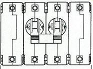 IEG1111-26543-3-V Circuit Breaker 4-Pole 9.5 Amp 250V 50-60 Hertz Double Toggle Handle