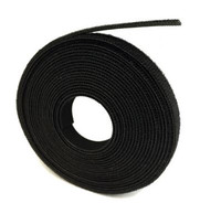 "1/2"" HOOK AND LOOP BLACK 15 FT ROLL - VRHL1215FTBK"