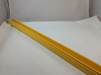 2X2 FIBER RUNNER HINGED CHANNEL YELLOW 6' SECTION