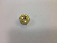 "1/2-13 HEX NUT 7/8"" WIDE YELLOW ZINC"