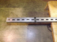 """1-5/8"""" x 1-5/8"""" 12 Gage Channel 10 FT Slotted Plain Finish"""