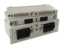 "PWX-041RCA4G4YSPWP  100 AMP DUAL FEED 4/4 TPA/GMT FUSE PANEL 19"" 1RU PW -24/48VDC"