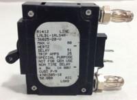LMLB1-1RLS4R-36825-20-V Breaker, 20 Amp, Bullet, Black Handle, 2 Pin w/Alarm Strap