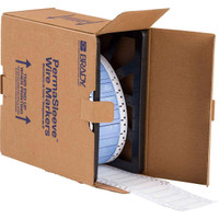IP Series PermaSleeve Polyolefin Wire Marking Sleeves  SINGLE-SIDED, 1000 sleeves per roll; 12-4 wire gage