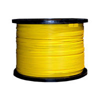 Indoor Distribution Fiber Optic Cable, 9/125um Singlemode, Duplex, Yellow, OFNR, 2mm, Corning Glass, 1000' Spool