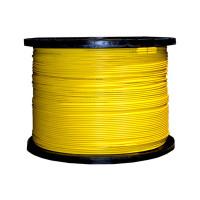 Indoor Distribution Fiber Optic Cable, 9/125um, Singlemode, Simplex, Yellow, OFNR, 1000' Spool