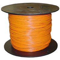 Indoor Distribution Fiber Optic Cable, 62.5/125, Multimode, Simplex, Orange, OFNR, 1000' Spool