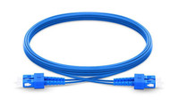 SC UPC to SC UPC Duplex Single Mode Armored PVC (OFNR) Patch Cable