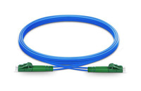 LC APC to LC APC Duplex Single Mode Armored PVC (OFNR) Patch Cable