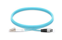 LC UPC to FC UPC Duplex OM3 Armored PVC (OFNR) Patch Cable