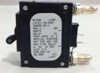 LMLB1-1RLS4R-36825-25-V 25 AMP CKT BREAKER BULLET BLACK HANDLE 2 PIN W/ STRAP