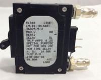 LMLB1-1RLS4R-36825-5-V  5 AMP CKT BREAKER BULLET BLACK HANDLE 2 PIN W/ STRAP