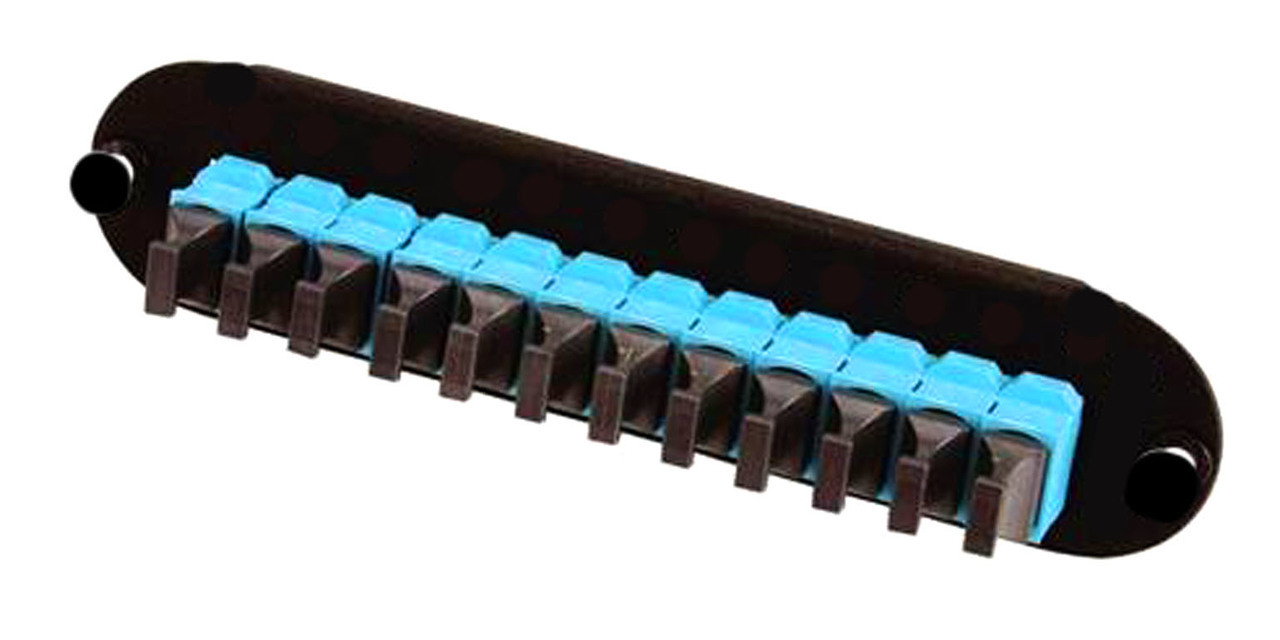 CCH FOOTPRINT 144 FIBER (12-PORT) MTP MM OM3/4 AQUA ADAPTERS -  FPC-12P-M3-MTP1B